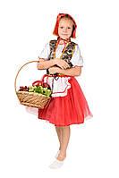 Детский карнавальный маскарадный костюм Красная Шапочка размер:30,32,34