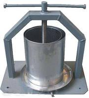 Прес гвинтовий нержавійка для соку в кожусі в обсязі 10 літрів про-ва Вінниця нержавіюча сталь