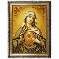 Икона с янтаря Пресвятой Богородицы Девы Марии 30х40 см