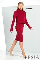 Трикотажный женский костюм АБЕЛИН (юбка + кофта) от Lesia.
