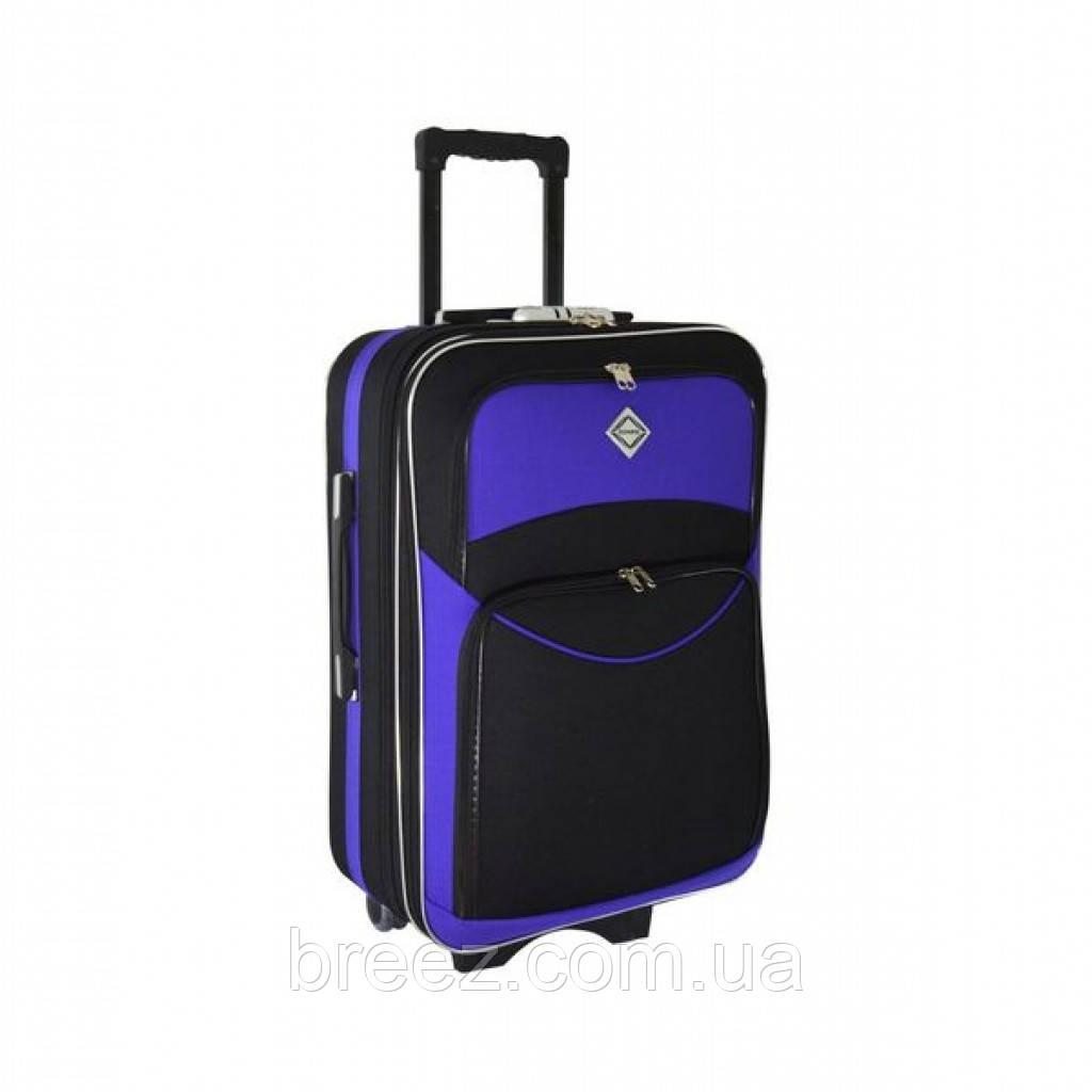 Чемодан Bonro Style небольшой чёрно-фиолетовый