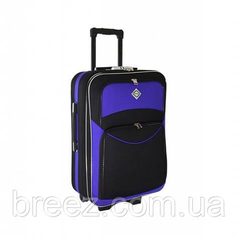 Чемодан Bonro Style небольшой чёрно-фиолетовый, фото 2