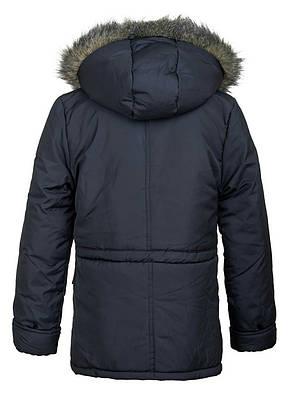 Практичная куртка-парка на меху для мальчика-подростка 146-164, фото 3
