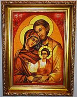 Икона с янтаря Святое семейство 20х30 см
