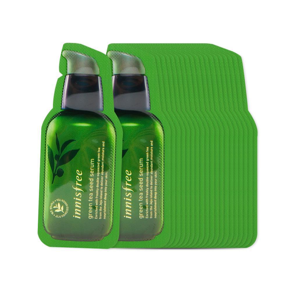 Пробник сыворотки для лица с экстрактом масла семян зеленого чая Innisfree The green tea seed serum, 1 мл