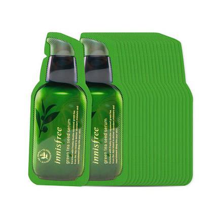 Пробник сыворотки для лица с экстрактом масла семян зеленого чая Innisfree The green tea seed serum, 1 мл, фото 2