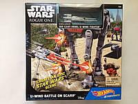 Hot Wheels трек Звездная битва Star Wars Starship Battle Scenes Play Set Assortment