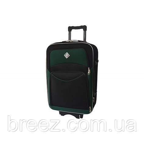 Чемодан Bonro Style небольшой чёрно-зелёный, фото 2