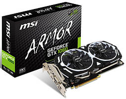 Видеокарта OVER-STOCK  MSI GeForce GTX 1060 ARMOR 6G OCV1
