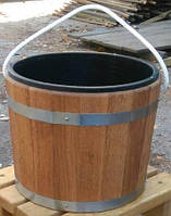 Ведро дубовое на 16 литров со вставкой для бани и сауны, фото 1