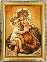 Икона с янтаря Богородица 30х40 см
