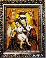 Икона с янтаря Милостивая 20х30 см