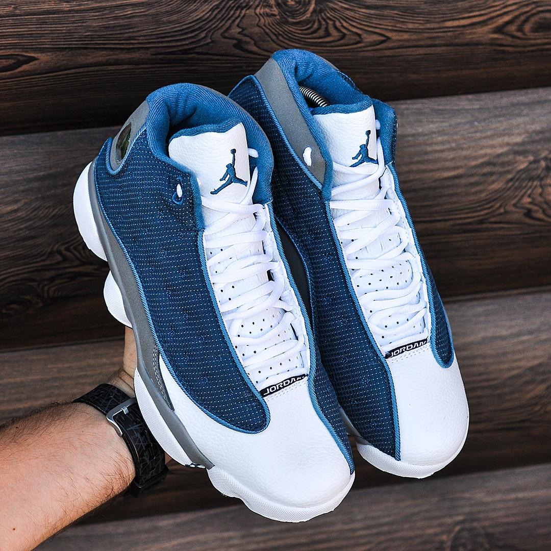 Кроссовки в стиле Nike Air Jordan 13 Blue (Реплика ААА+)