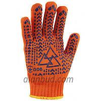 Робочі рукавички з ПВХ малюнком O10-29.(Надміцні)