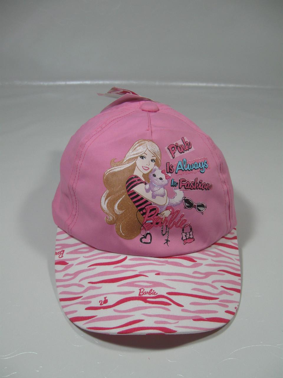 Кепка для девочки Дисней Барби, размеры 52 см,54 cм арт. 770-164