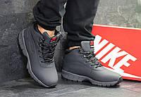 1d662d95 Ботинки мужские Nike Lunarridge кожаные зимние удобные высокие на меху  повседневные (серые), ТОП