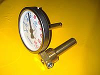 Термометр металлический трубчатый 5см. Ф-65 диаметр -30+60℃ градусов производство Турция PAKKENS, фото 1