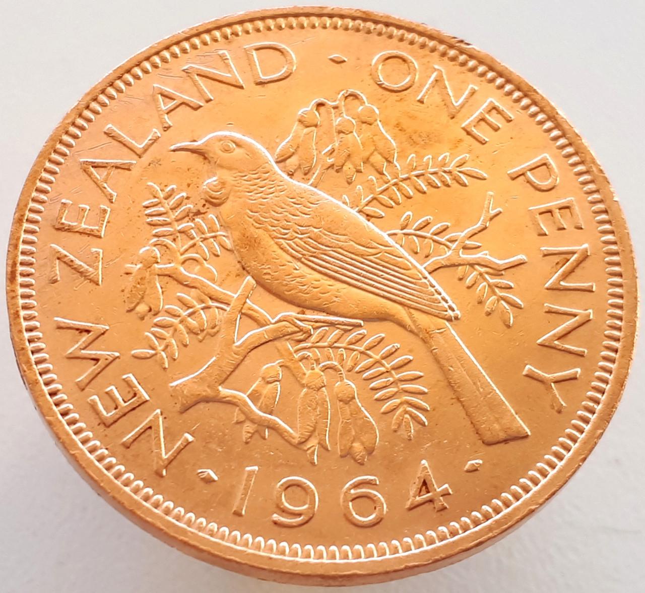 Новая Зеландия 1 пенни 1964