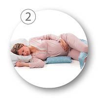 Подушка для беременных 10 в 1 DreamWizard (белая в горошек), Nuvita