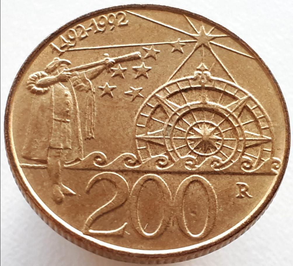 Сан-Марино 200 лир 1992 - 500 лет открытию Америки
