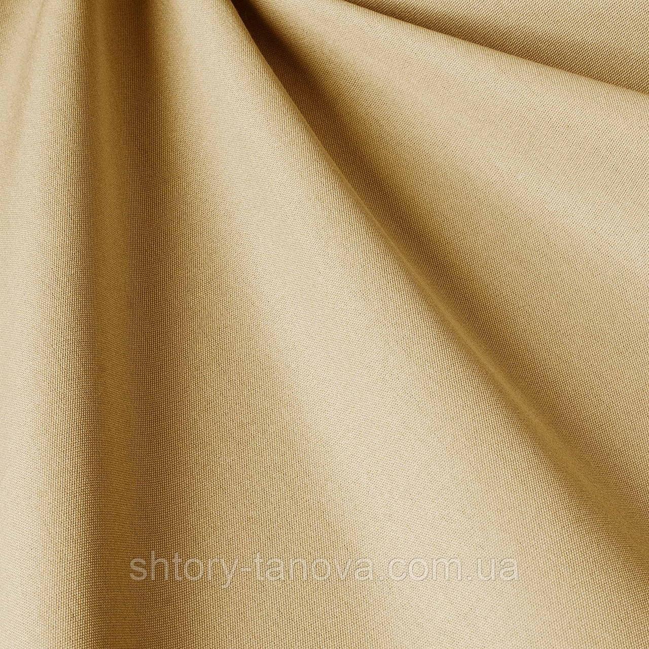 Однотонна тканина для вулиці вершкового кольору