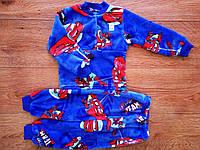 Теплющая махровая пижама для мальчика Тачки и Спайдермен  86-98 см