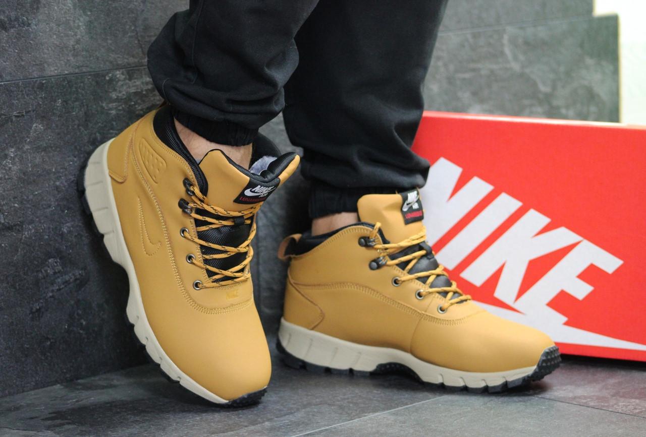 181afc0f Ботинки мужские Nike Lunarridge высокие на шнуровке, зимние на меху  стильные нубук+пена (