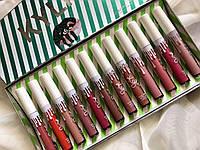 Жидкая помада Kylie Jenner Matte Liquid Lipstick полоска 12в1