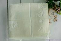 Махровый детский плед для ребенка (140х100), Молочного цвета