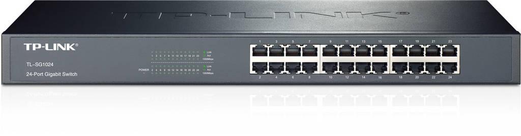 Коммутатор TP-LINK TL-SG1024  (24х10/100/1000 Мбит, металл, монтаж в стойку)