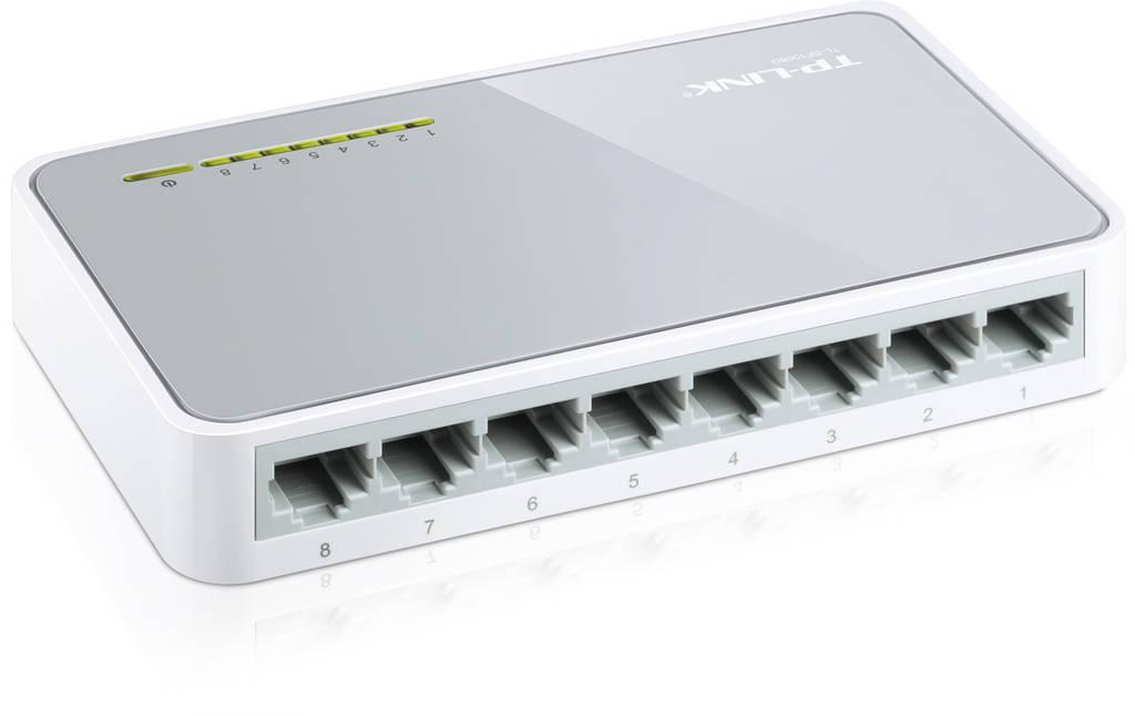 Коммутатор TP-Link TL-SF1008D  (8х10/100 Мбит, настольный)