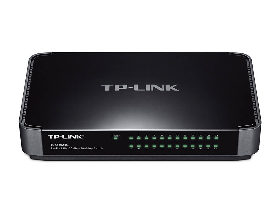 Коммутатор TP-LINK TL-SF1024M (24-port 10/100 Мбит, пластик)