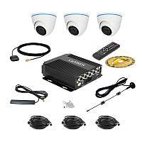 Комплект спостереження Carvision MDVR004/W/3G/GPS Kit-3x
