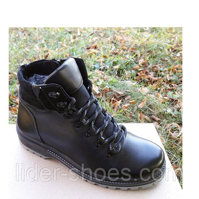 Мужские кожаные ботинки на меху