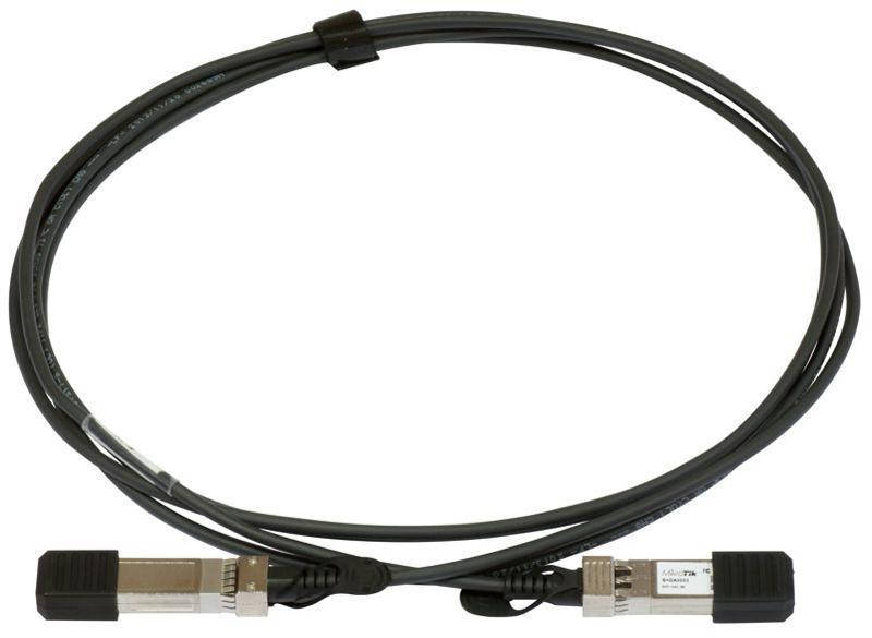 Кабель MikroTik S+DA0001 10-GbE SFP+ 1m direct attach cable