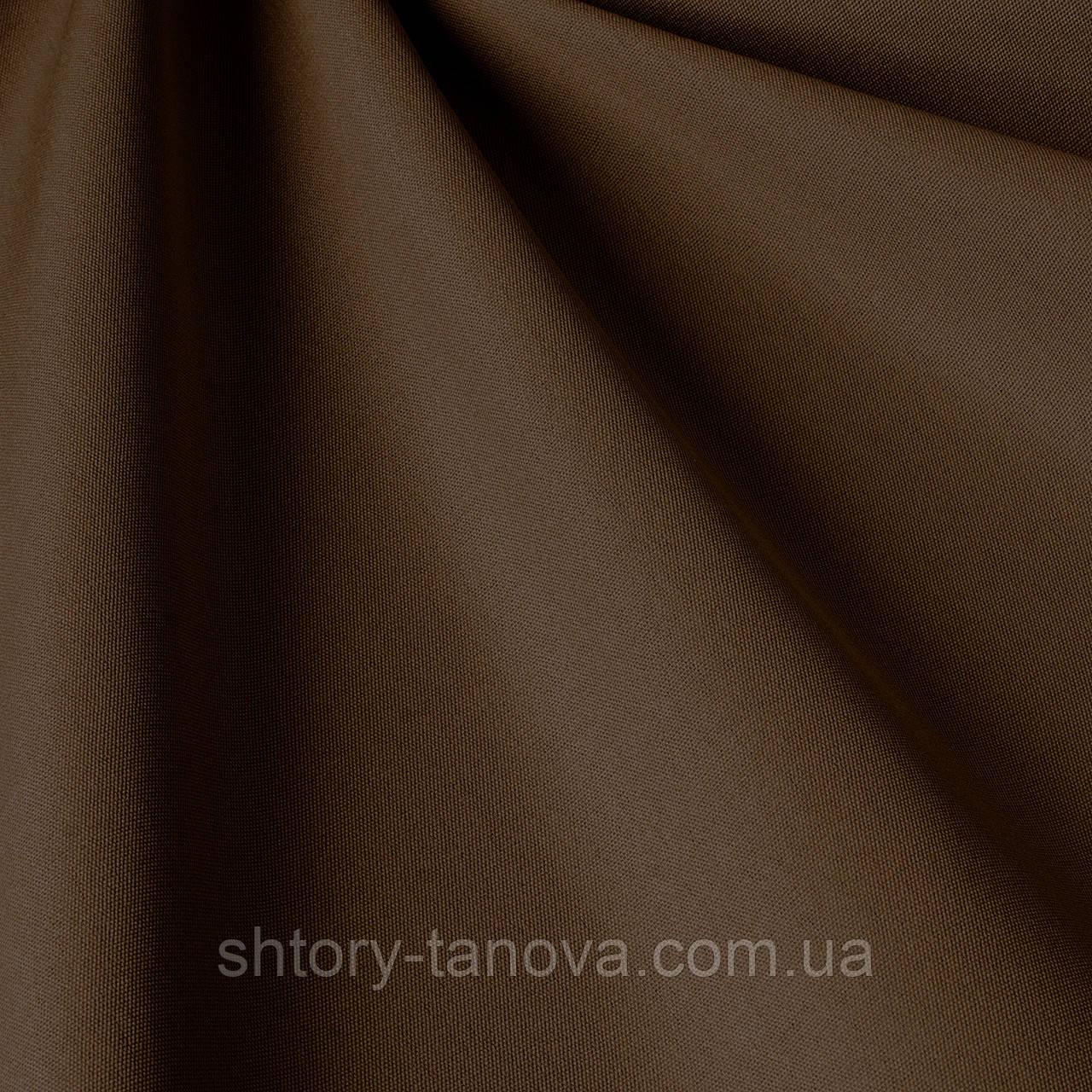 Однотонная уличная ткань темно-коричневая