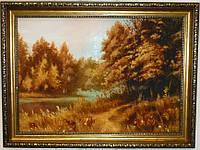 Картина с янтаря Пейзаж 40х30 см