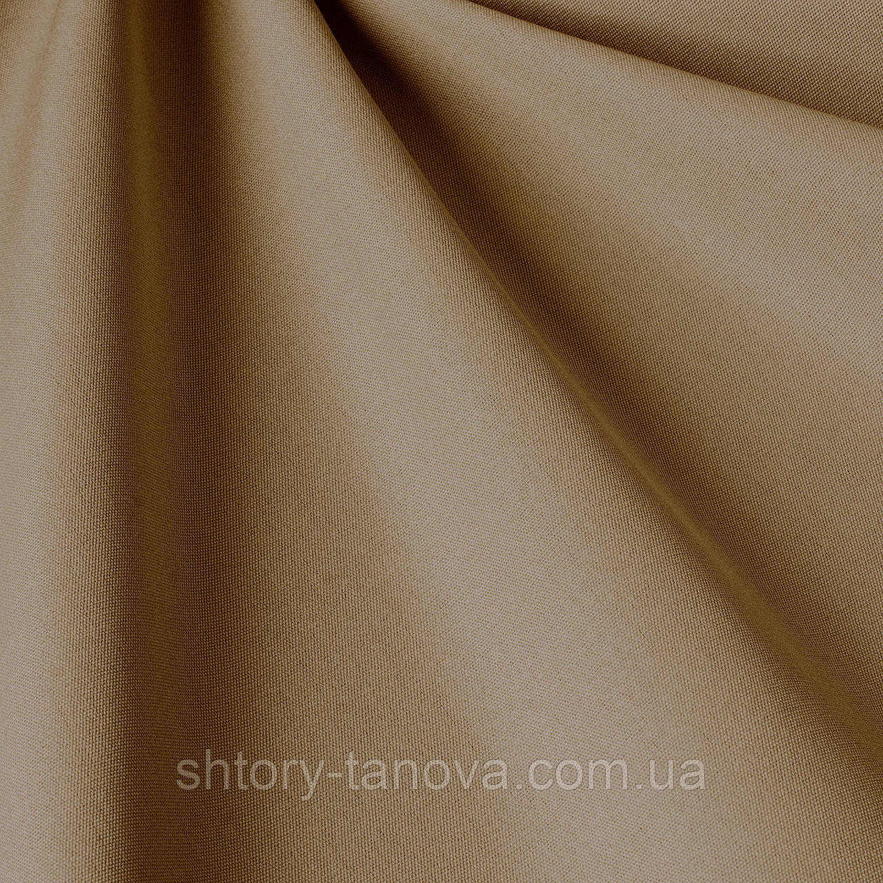Однотонна акрилова тканина для вулиці темно-кремового кольору