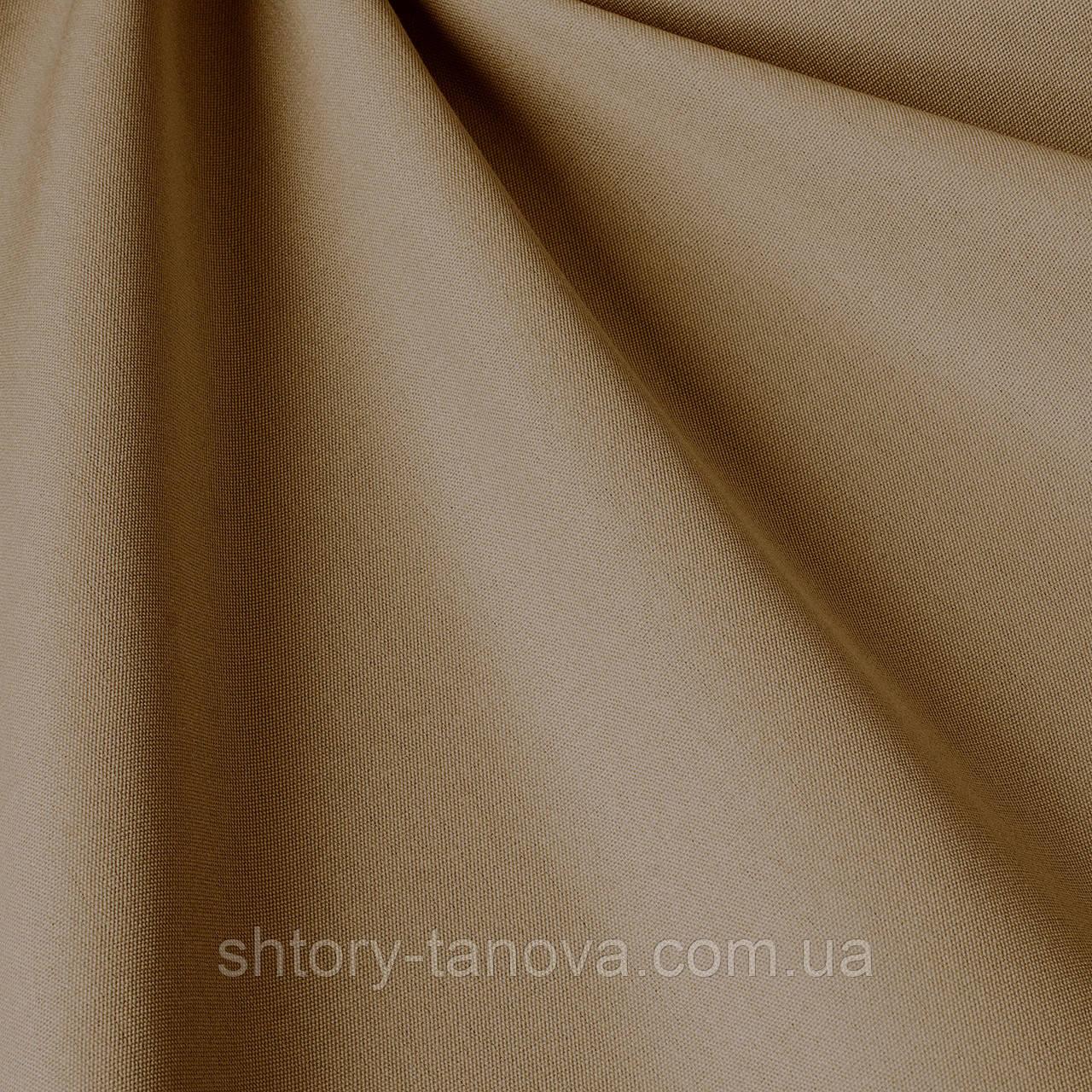 Однотонная акриловая ткань для улицы темно-кремового цвета