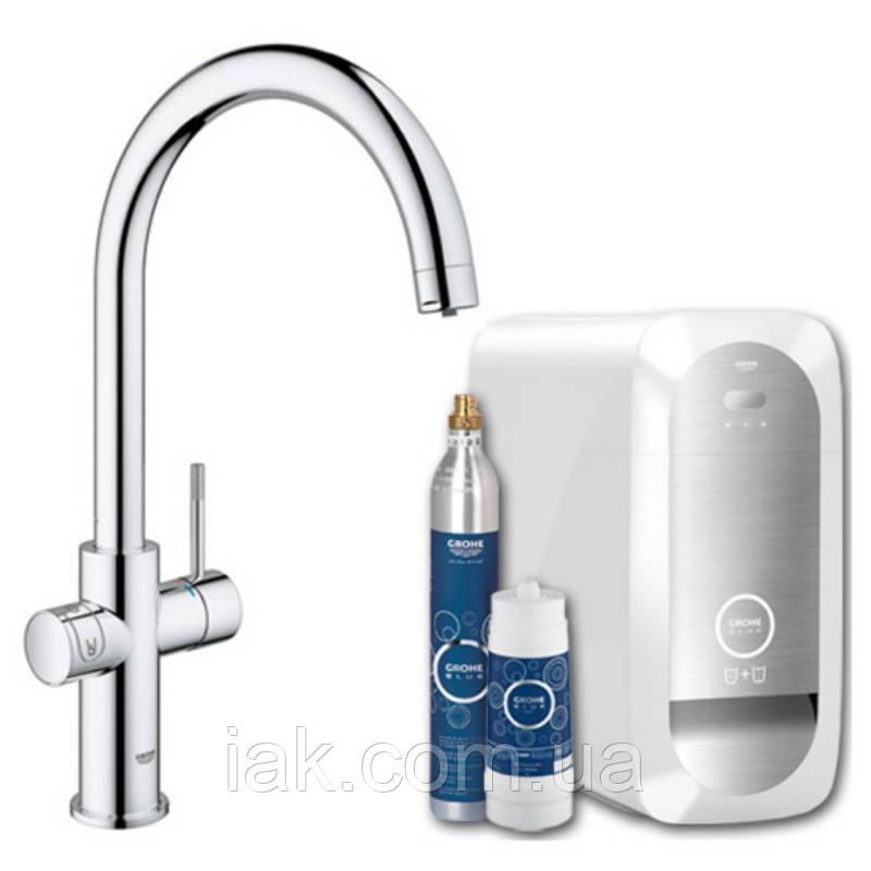 Grohe Blue Home 31455000 смеситель для кухни с системой очистки  воды