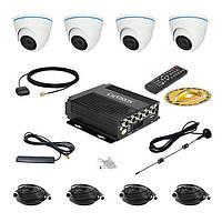 Комплект спостереження Carvision MDVR004/W/3G/GPS Kit-4x