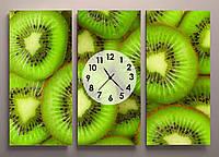 Картина модульная для кухни часы Киви