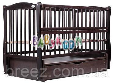 Кровать Дубок Елит маятник, ящик, откидной бок DEMYO-5 бук цвет венге