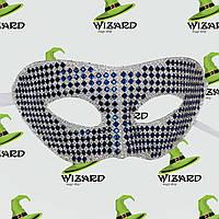 Венецианская маска из кристаллов синяя , фото 1