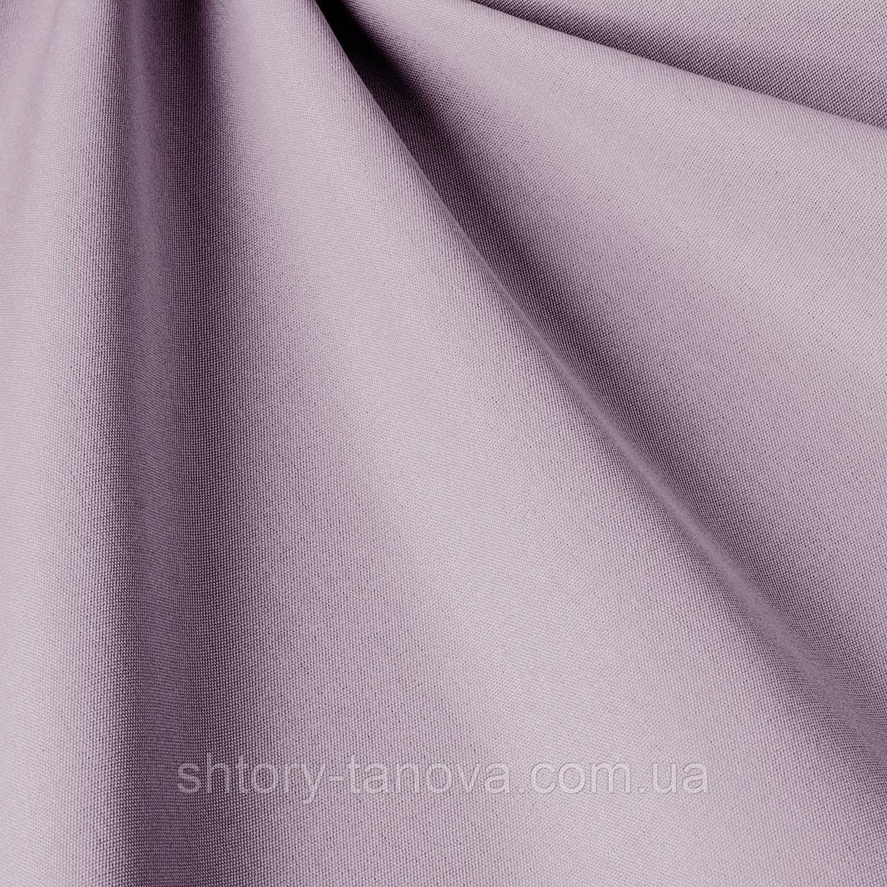 Однотонная ткань для улицы светло-сиреневого цвета