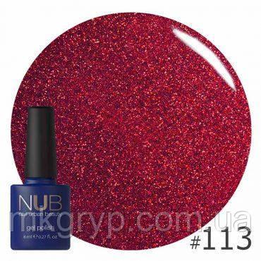 ГЕЛЬ-ЛАК NUB DRACO    113 (красный с блестками и слюдой), 8 мл