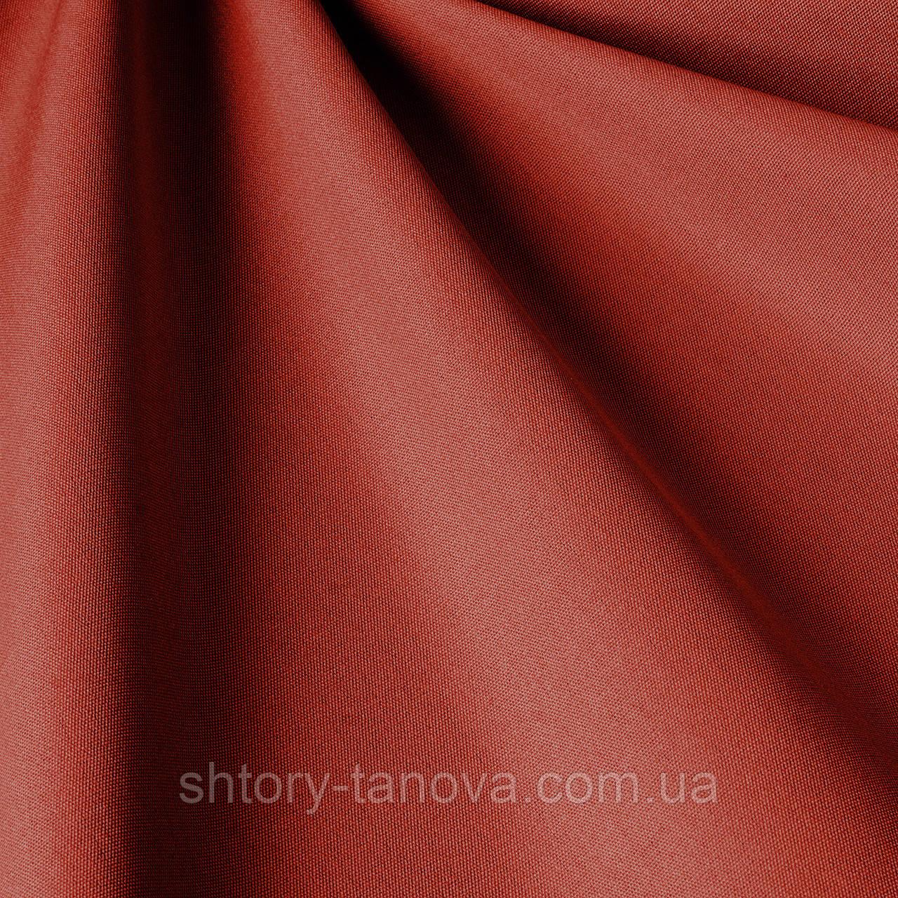 Однотонная уличная ткань темно-красного цвета