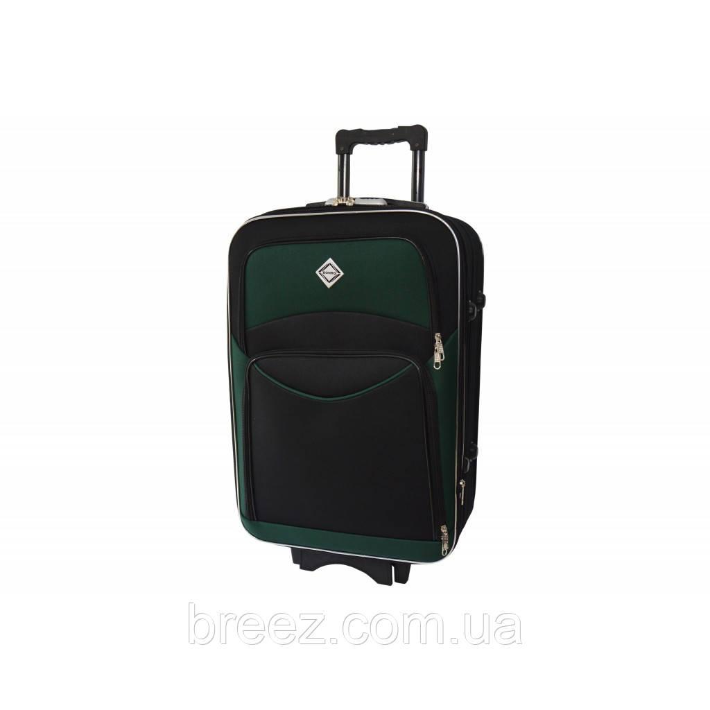 Чемодан Bonro Style средний чёрно-зелёный
