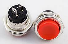 Кнопка, выключатель, PBS-26B OFF-(ON) . без фиксации, красная, 2 контакта. 1 шт