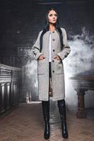 Удлиненное теплое пальто прямого кроя X-Woyz PL-8677